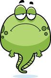 Sad Cartoon Tadpole Royalty Free Stock Photos