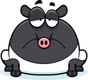 Sad Cartoon Tapir Royalty Free Stock Photo