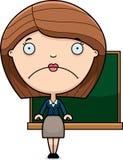 Sad Cartoon Teacher Royalty Free Stock Photography