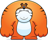 Sad Cartoon Tiger Royalty Free Stock Photos