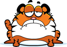 Sad Cartoon Tiger Stock Photography