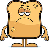 Sad Cartoon Toast Stock Photo