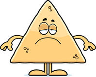 Sad Cartoon Tortilla Chip Stock Image