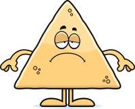 Sad Cartoon Tortilla Chip Stock Image