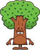 Sad Cartoon Tree Stock Photo