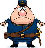Sad Cartoon Union Soldier Stock Photo