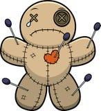 Sad Cartoon Voodoo Doll Royalty Free Stock Photos
