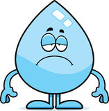 Sad Cartoon Water Drop Royalty Free Stock Photos