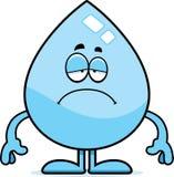 Sad Cartoon Water Drop Royalty Free Stock Photos
