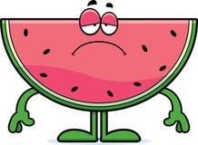 Sad Cartoon Watermelon Royalty Free Stock Photos