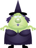 Sad Cartoon Witch Royalty Free Stock Photo
