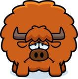 Sad Cartoon Yak. A cartoon illustration of a yak looking sad Stock Images