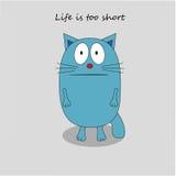 Sad cat - flat design vector Stock Image