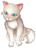 A sad cat. Illustration of a sad cat on a white background Royalty Free Stock Photography
