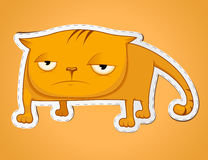 Sad cat sticker Stock Photography