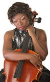 Sad Cello Performer Royalty Free Stock Images