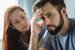 Free Sad Cheerless Man Looking Troubled Stock Photography - 100115012