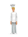 Sad chef. Illustration sad abstract cartoon character on a white background Royalty Free Stock Photos
