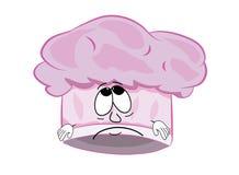Sad chef hat cartoon Royalty Free Stock Photography