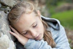 Sad child. Little sad child is lonesome Royalty Free Stock Photo
