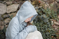 Sad child. Little sad child is lonesome Royalty Free Stock Photo