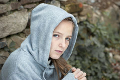 Sad child. Little sad child is lonesome Royalty Free Stock Photography