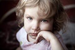 Sad child. Sad little child looking at camera Royalty Free Stock Photo