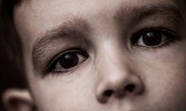 Sad child. Eyes of sad 4 years old child Stock Images