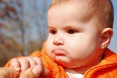 Sad child. A portrait with a sad little child Stock Photography