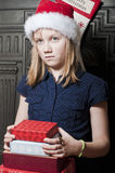 Sad child at christmas Royalty Free Stock Photo