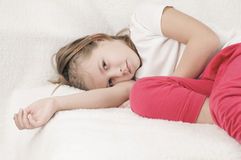 Sad Child Girl Royalty Free Stock Images