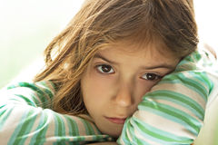 Sad child. Girl With Sad Face royalty free stock photography