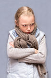 Sad child. Little sad and angry child Stock Photos