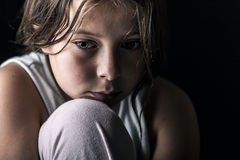 Sad Child. Powerful Shot of Sad Child Royalty Free Stock Photo