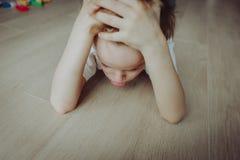 Sad child, stress and depression Royalty Free Stock Image