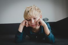 Sad child, stress and depression, exhaustion, autism. Sad child, stress and depression, exhaustion autism sorrow royalty free stock images