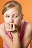 Sad child thinking Stock Photos