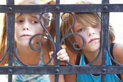 Sad children. Childrens eyes are sad Royalty Free Stock Images
