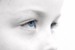 Sad childs eyes. Close up of a sad childs eyes Royalty Free Stock Photography