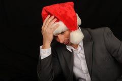 Sad Christmas Businessman Stock Images
