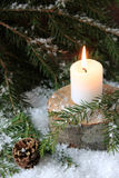 Sad Christmas candle Royalty Free Stock Images