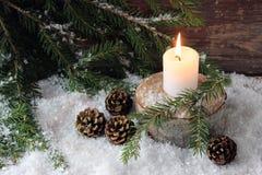Sad Christmas candle Stock Image