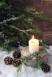 Sad Christmas candle Stock Photo