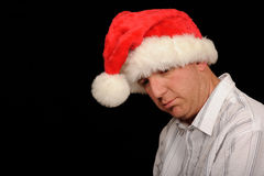 Sad Christmas Man Royalty Free Stock Images