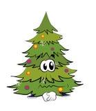 Sad christmas tree cartoon Royalty Free Stock Image