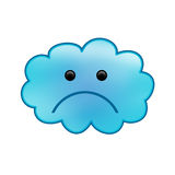 Sad Cloud. A sad looking cloud with gradients Stock Photography