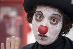 The sad clown Stock Image