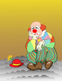 Sad clown Royalty Free Stock Image