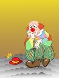 SAD clown Royaltyfri Bild