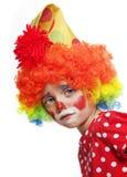 SAD clown arkivbild